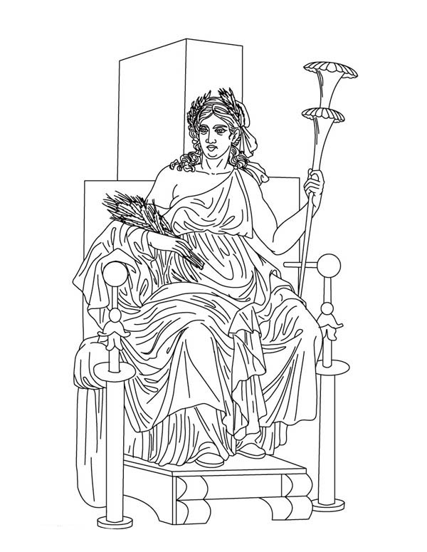 greek gods and goddesses coloring pages - Ancient Greek Gods Coloring Pages