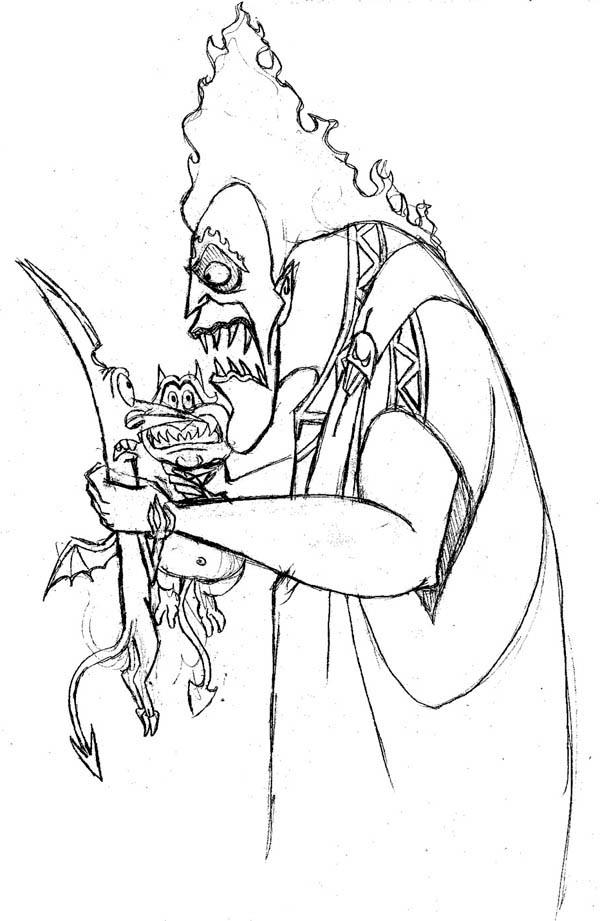 Hades in Hercules Movie Scene Coloring