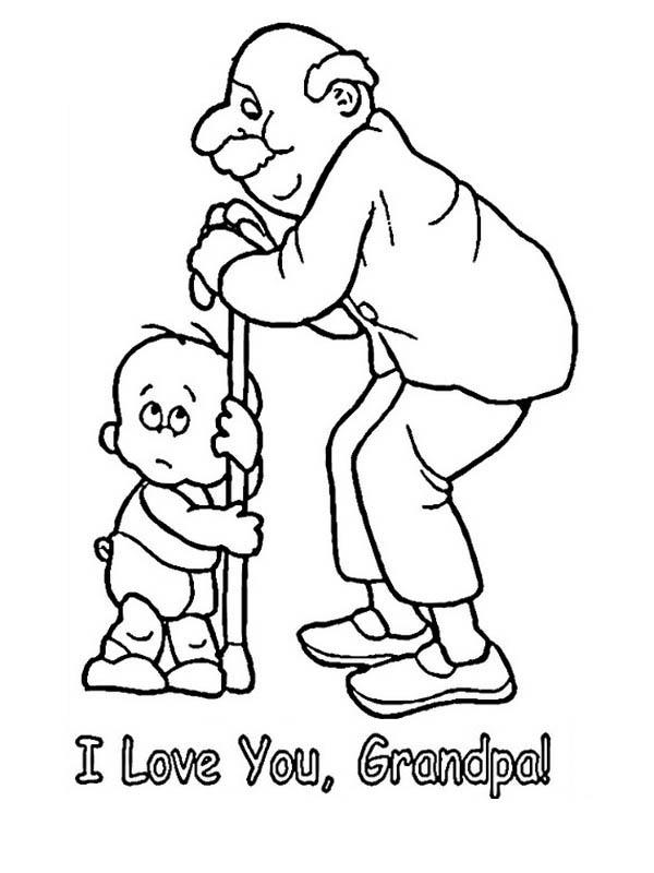 Little Baby Love His Grandpa in