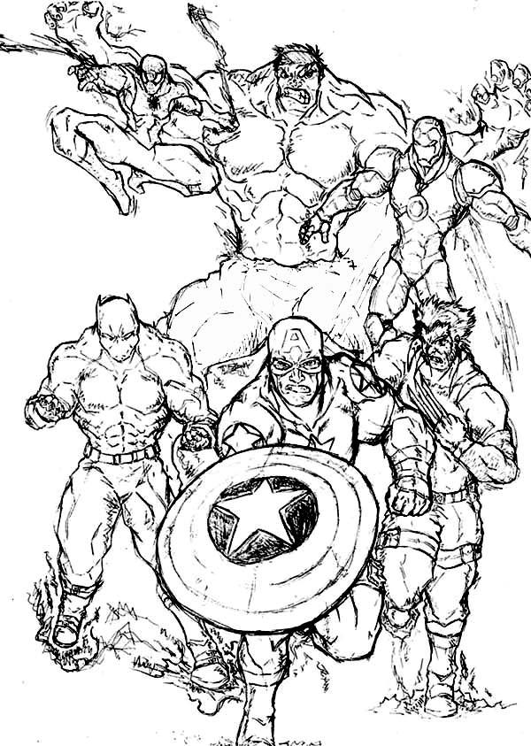 Amazing Super Hero Squad Coloring Page