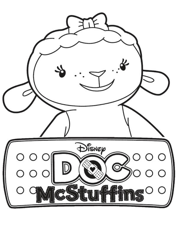 the Lamb in Doc McStuffins Coloring Page