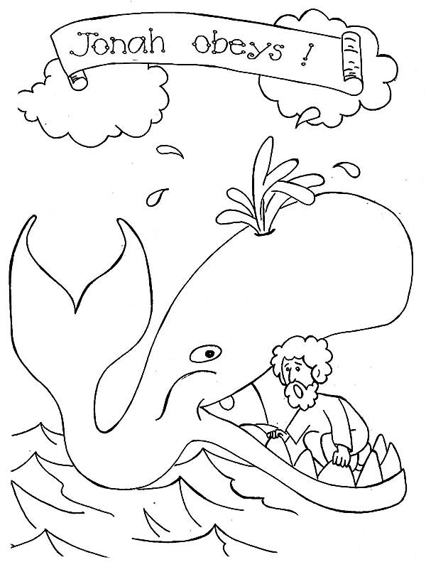 Jonah And The Whale Picture Coloring Page
