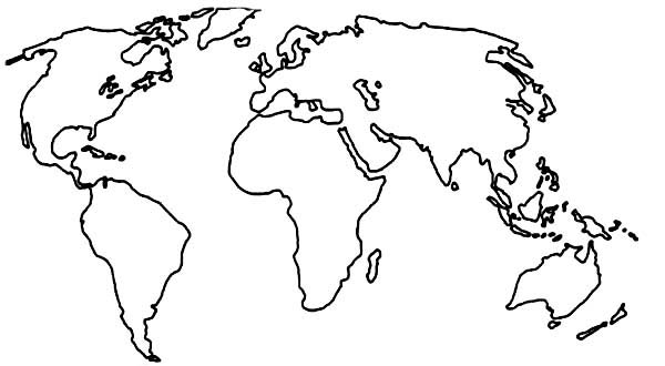 World map drawing coloring page gumiabroncs Gallery