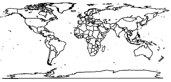World map with countries black and white coloring page gumiabroncs Choice Image