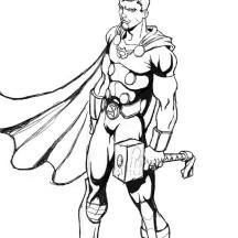 A Creative Illustration of Thor