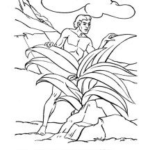 Adam Lived in Garden of Eden Coloring Page