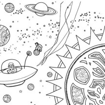Alien Spaceship Coloring Page