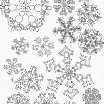 All Snowflakes Picture Coloring Page