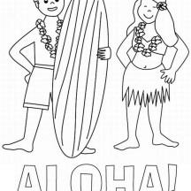 Aloha is Hawaiian Greet Coloring Page