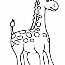 Amazing African Giraffe Coloring Page