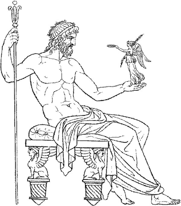 Amazing Drawing Greek Gods and Goddesses Coloring Page