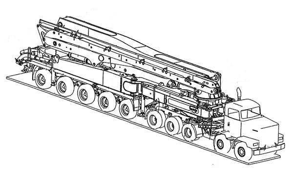 amazing flatbed semi truck coloring page