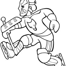 Amazing Hockey Goal Keeper Player Coloring Page