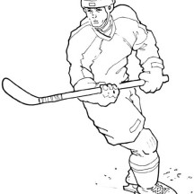 Amazing Hockey Player Coloring Page