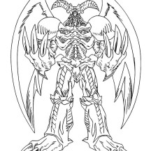 Amazing Red Eyes Dragon in Yu Gi Oh Coloring Page
