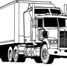 Amazing Semi Truck Coloring Page