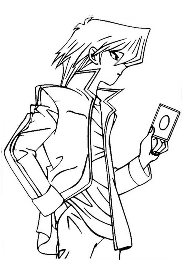 Amazing Seto Kaiba in Yu Gi Oh Coloring Page - NetArt