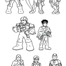 Amazing Super Hero Squad Coloring Page