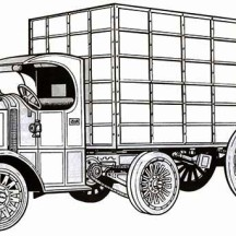 An Imaginary Version of  Classic Semi Truck Coloring Page