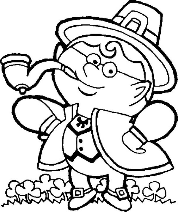An Irish Guy in Traditional Costume Celebrating St Patricks Day Coloring Page