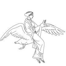 Aphrodite from Greek Gods and Goddesses Coloring Page