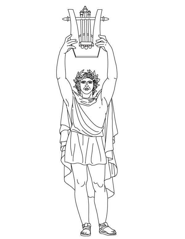 greek gods coloring pages for kids | Apollo from Greek Gods and Goddesses Coloring Page - NetArt