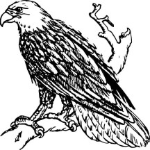 Awesome Bald Eagle Coloring Page