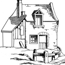 Awesome Barn House in Houses Coloring Page