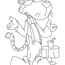Awesome Chester the Cheetah Coloring Page