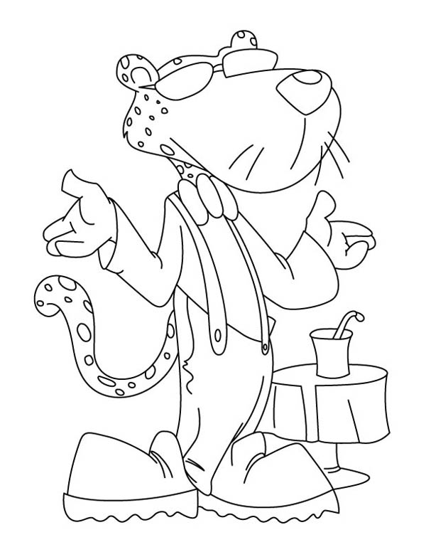 Awesome Chester the Cheetah Coloring