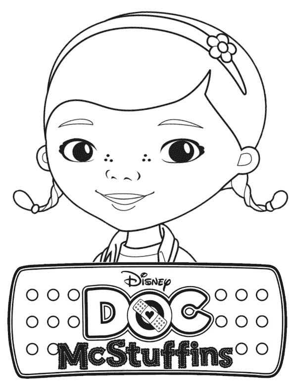 Awesome Doc McStuffins Coloring Page