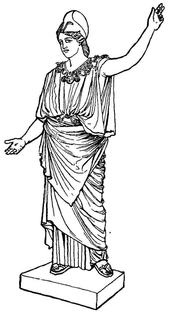 Awesome Greek Gods And Goddesses Coloring Page Netart