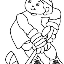 Awesome Hockey Player Coloring Page