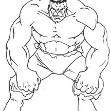 Awesome Hulk Picture Coloring Page