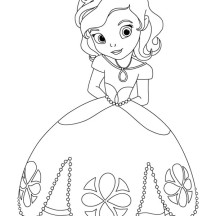 Awesome Princess Sofia the First Coloring Page