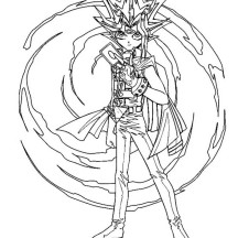 Awesome Yumi Yugi in Yu Gi Oh Coloring Page