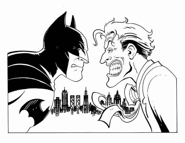 Batman vs Joker Coloring Page