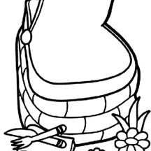 Beautiful Basket Picnic Coloring Page