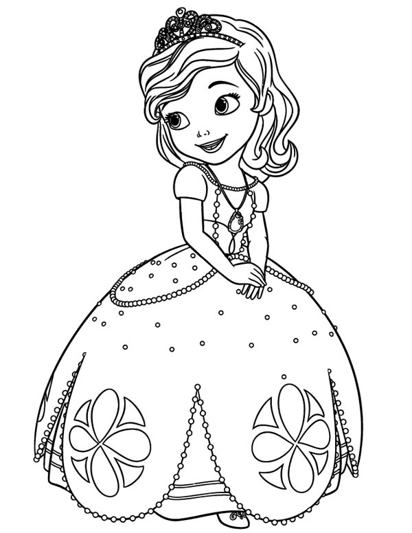 Beautiful Princess Sofia the First Coloring Page