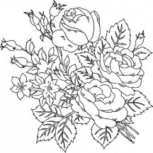 Beautiful Roses Flower Coloring Page