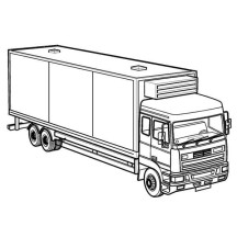 Big Rig Semi Truck Coloring Page