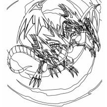 Blue Eyes Ultimate Dragon Yu Gi Oh Coloring Page