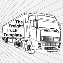 Canada Transport Semi Truck Coloring Page