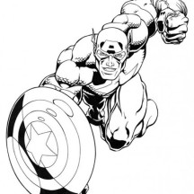 Captain America in Super Hero Squad Coloring Page