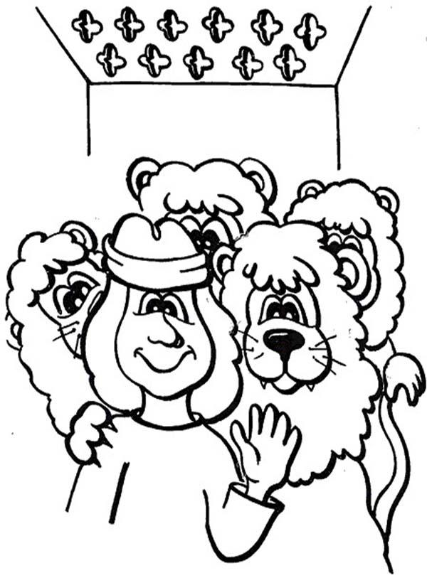 daniel lions den coloring pages - photo#24