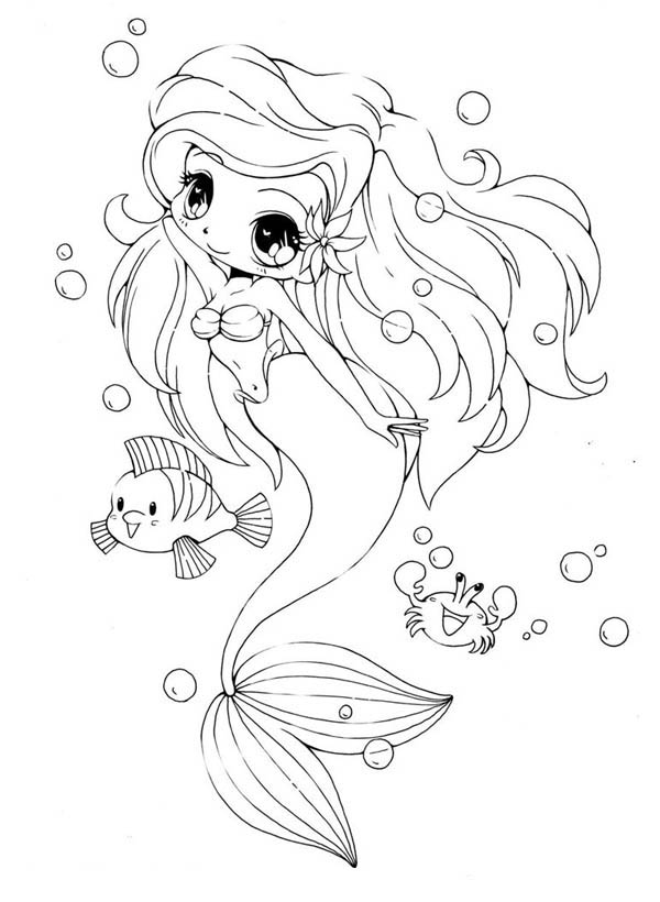 Free Baby Mermaid Coloring Pages, Download Free Clip Art, Free ... | 820x600
