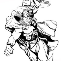 Claasic Thor Story Coloring Page