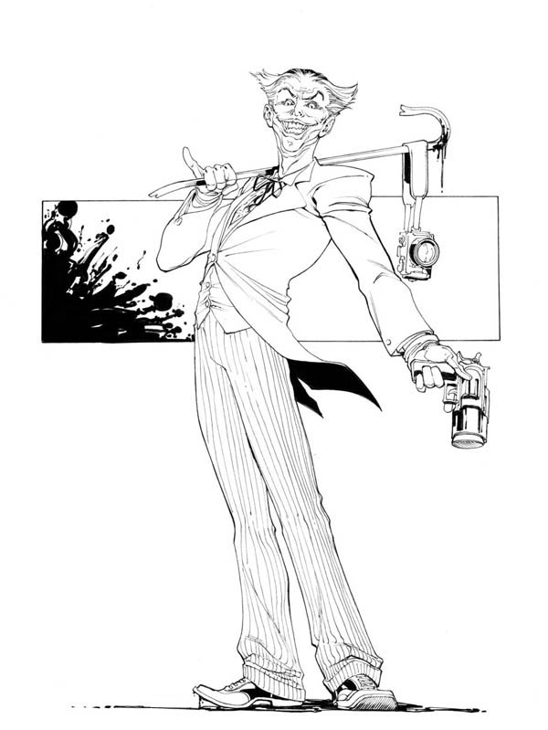 Classic Joker Coloring Page