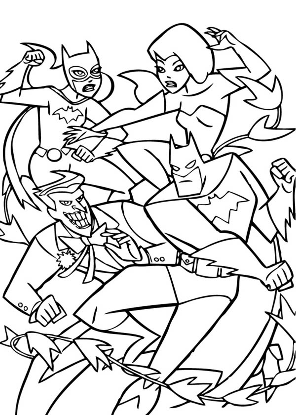 Couple Fight in Joker Coloring Page