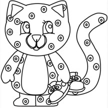 Cute Cheetah and Knickers Coloring Page
